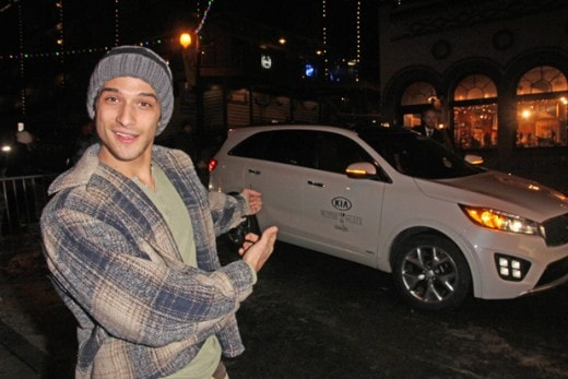 "Tyler Posey arriving to the ""Yoga Hosers"" dinner on Monday, January 25."