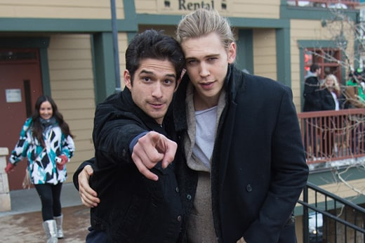 PARK CITY, UT - JANUARY 24: Actors Tyler Posey (L) and Austin Butler are seen around town at the Sundance Film Festival on January 24, 2016 in Park City, Utah. (Photo by Mark Sagliocco/GC Images)