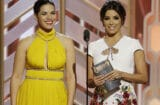America Ferrera and Eva Longoria at Golden Globes