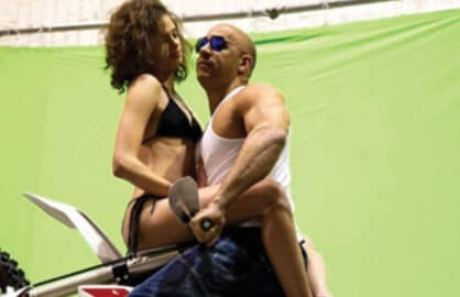 Vin Diesel on xXx Set