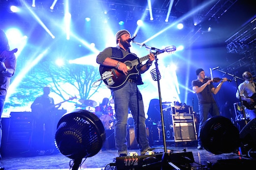 NEW YORK, NY - FEBRUARY 01: Zac Brown of Zac Brown Band perfoms onstage at the Bud Light Hotel on February 1, 2014 in New York City. (Photo by Stephen Lovekin/Getty Images)