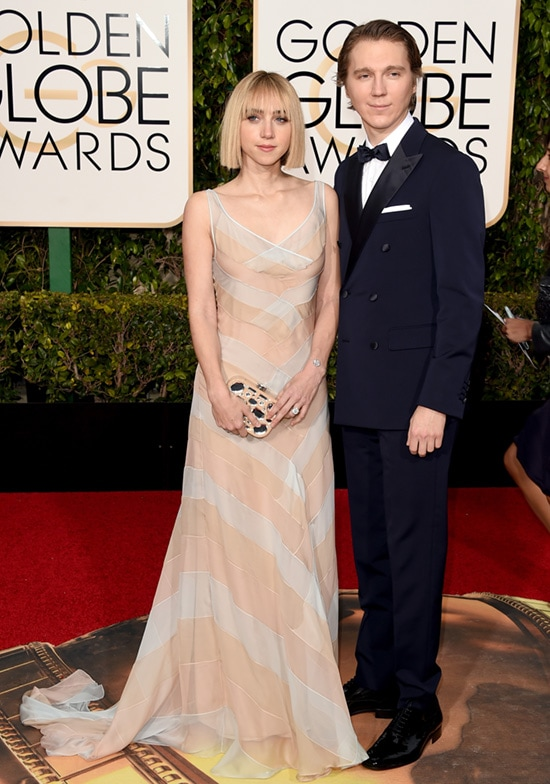 Zoe Kazan Paul Dano 2016 Golden Globes