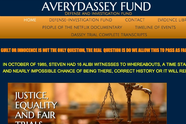 Avery Dassey Fund website