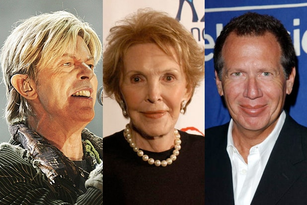 Deaths Bowie Reagan Shandling