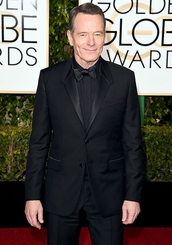 Bryan Cranston arriving at the Golden Globes