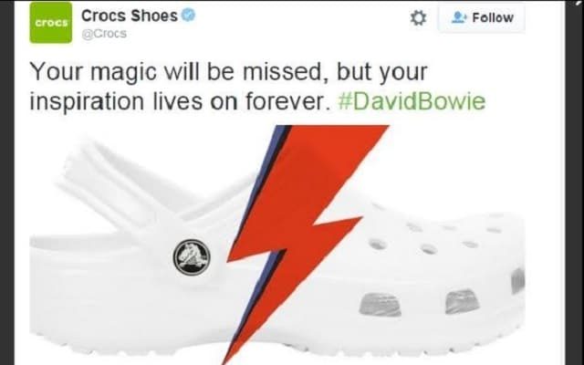 david bowie crocs tweet