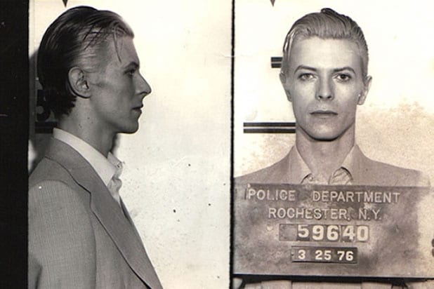 David Bowie mugshot in Rochester
