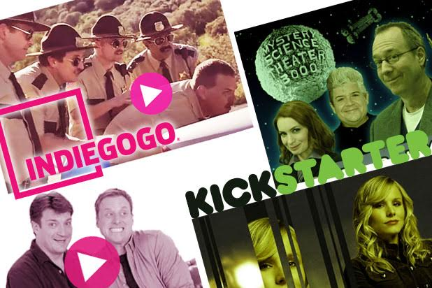 An image showing big projects funded on Kickstarter and Indiegogo