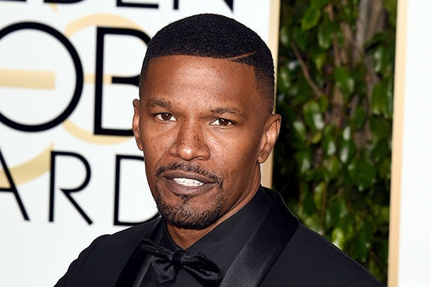 Jamie Foxx at the Golden Globes Sony