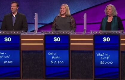 jeopardy triple loss game show