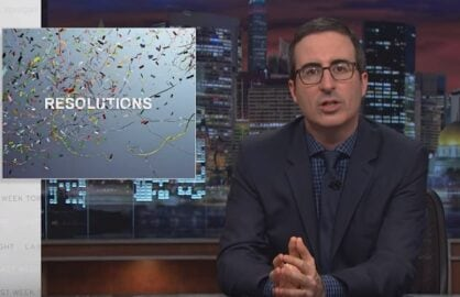 john oliver new years resolutions