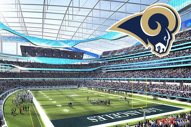 Nfl Reveals La Team Rams Set To Take The Field In Inglewood