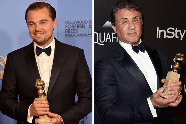 Leonardo DiCaprio Sylvester Stallone Golden Globes