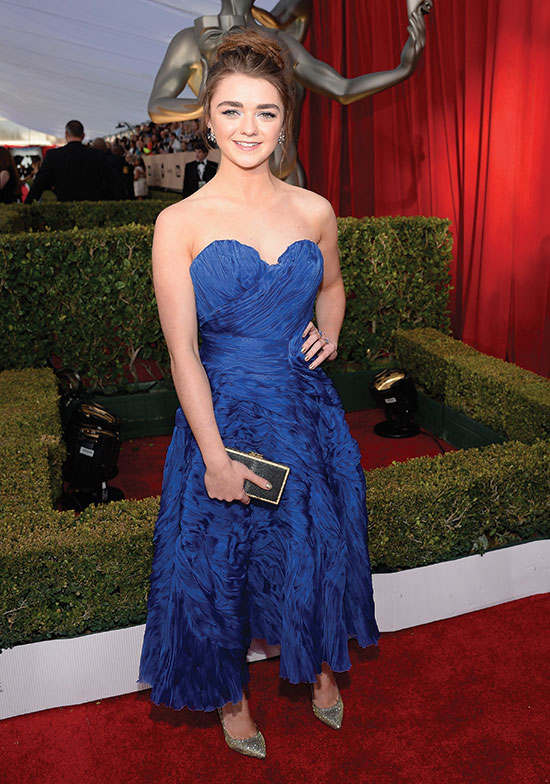 maisie williams arrives at the SAG Awards