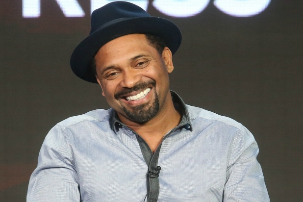 Brian Bradley And Will Packer Actors Mike Epps Nia Long James Lesure Speak Onstage During ABCs Uncle Buck Panel As Part Of The ABC Networks