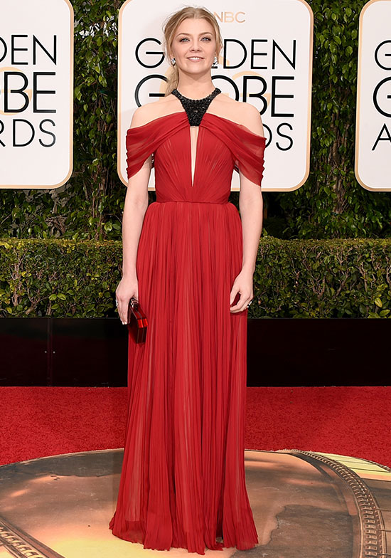 Natalie Dormer arrives at the Golden Globes