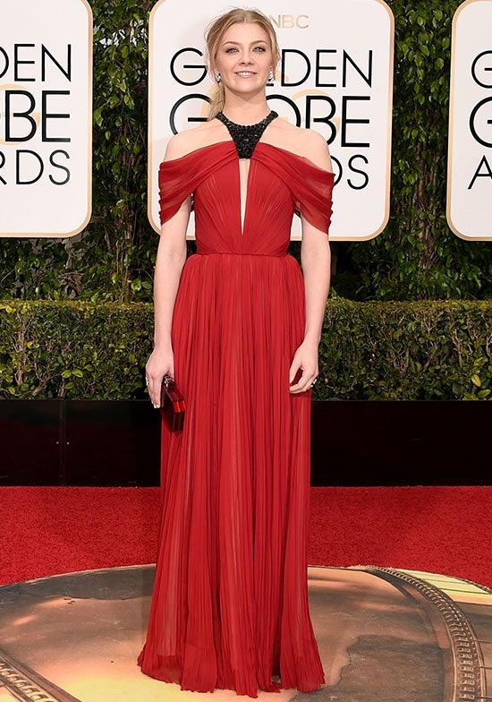 Natalie Dormer arrives at the Golden Globes
