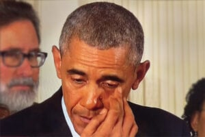 Barack Obama crying