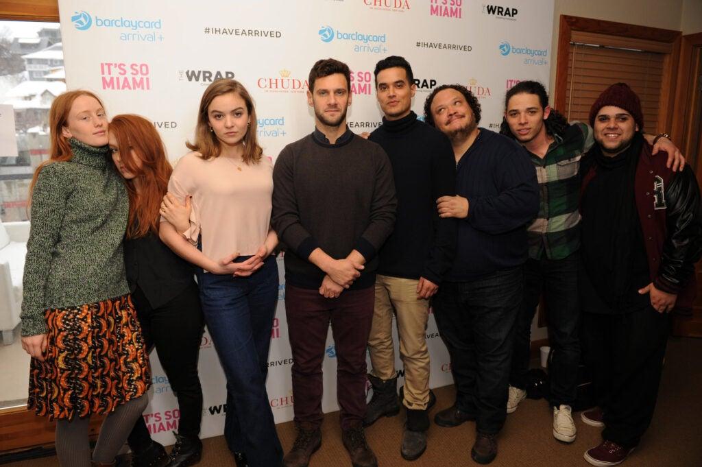 Elizabeth Wood, Morgan Saylor, Justin Bartha, Brian 'Sene' Marc, Adrian Martinez, Anthony Ramos, & Ralph Rodriguez White Girl Sundance