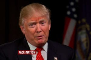 Donald Trump on Face the Nation