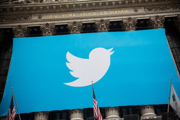 Twitter's logo on the New York Stock Exchange