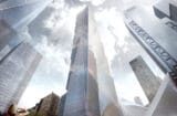 The 2 World Trade Center building in Manhattan 9/11