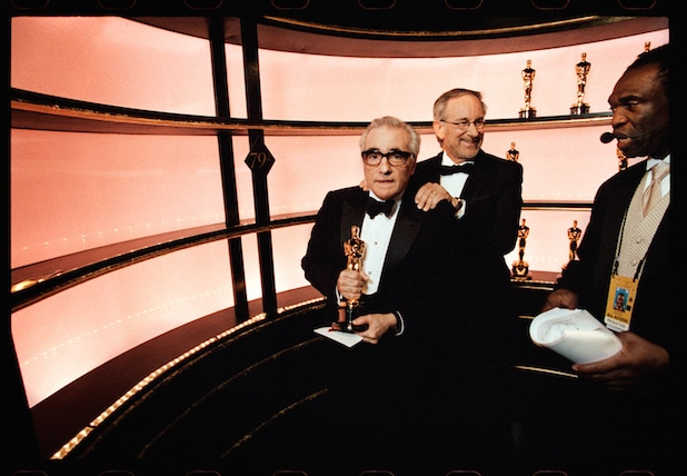 Martin Scorsese and Steven Spielberg at the Oscars in 2007
