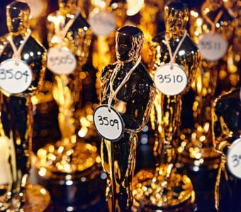 Oscar statuettes backstage, 2010