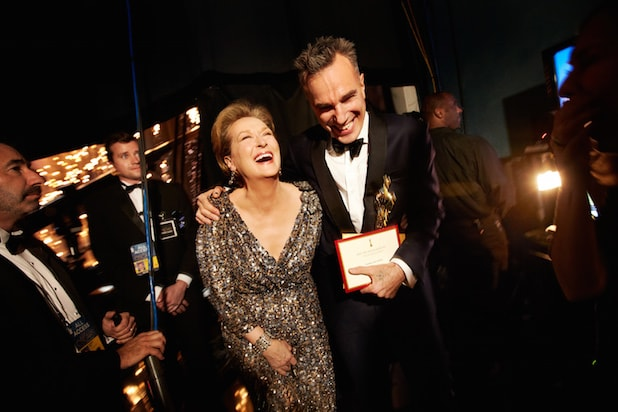 Meryl Street and Daniel Day-Lewis at the 2013 Oscars