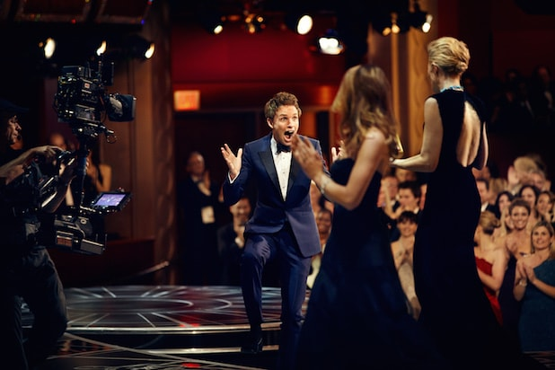 Eddie Redmayne at the Oscars
