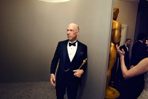 JK Simmons at the 2015 Oscars