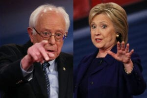 Bernie and Hillary Democratic Debate