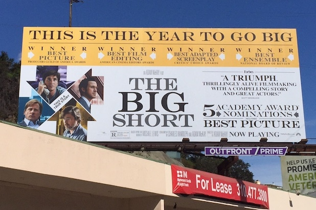 Big Short Oscars billboard