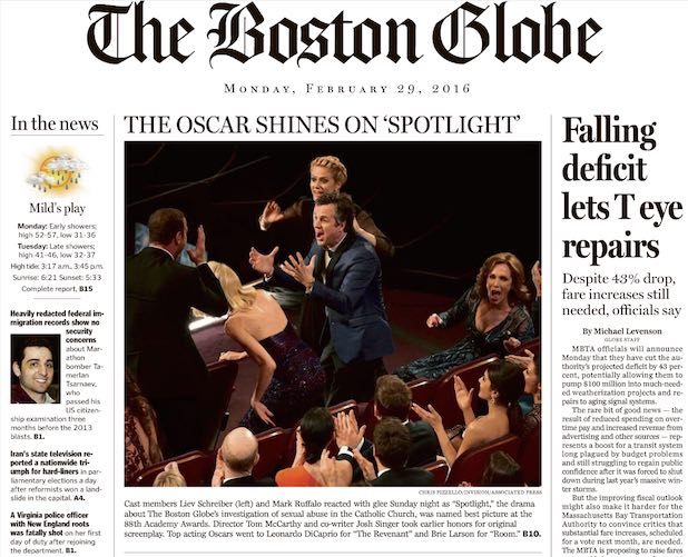 Boston Globe Spotlight Cover