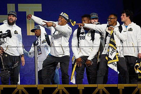 Carolina Panthers take the stage at Super Bowl 50 Media Night