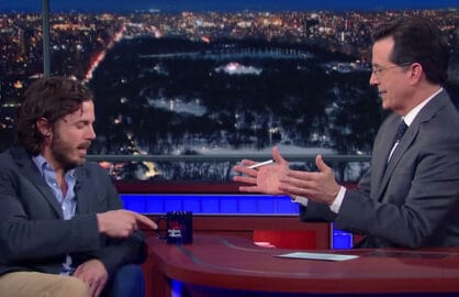Casey Affleck extremely awkward interview with Stephen Colbert