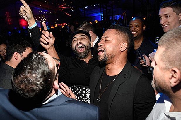 Cuba Gooding Jr. rocks out at the Playboy Party
