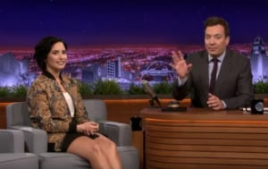 Demi Lovato on Jimmy Fallon