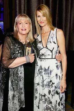 BEVERLY HILLS, CA - FEBRUARY 08: Actresses Diane Ladd (L) and Laura Dern attend AARP's Movie For GrownUps Awards at the Beverly Wilshire Four Seasons Hotel on February 8, 2016 in Beverly Hills, California. (Photo by Gabriel Olsen/Getty Images for AARP)