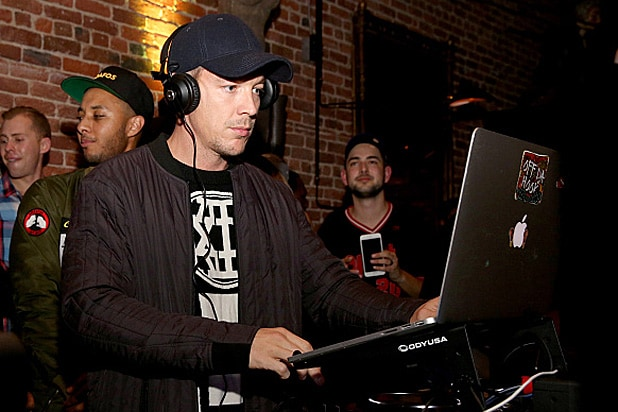 DJ Diplo performs during the New Era Super Bowl Party at The Battery