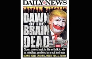 Donald Trump Mindless Zombies NY Daily News