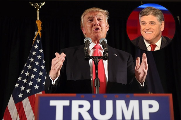 Donald Trump and Fox News host Sean Hannity