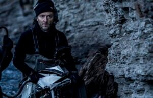 Emmanuel Lubezki on the set of The Revenant