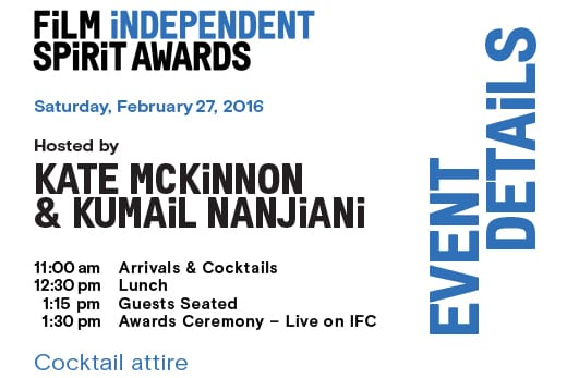 Film Independent Spirit Awards Invitation