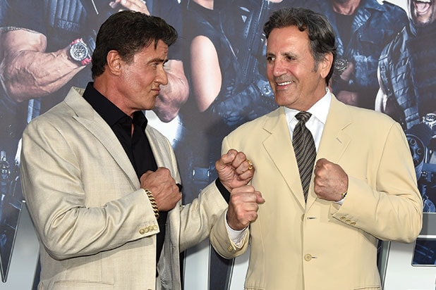 Frank and Sylvester Stallone