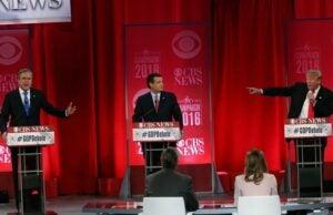 GOP Debate Trump Bush Cruz