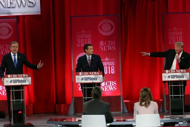 GOP Debate Trump Bush Cruz