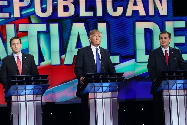 GOP Republican Debate Rubio Trump Cruz