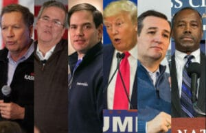GOP debate Split
