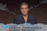 George Clooney Mean Tweets